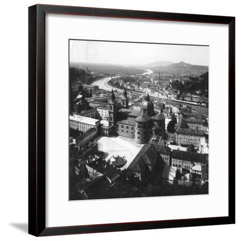 View of Salzburg from the Hohensalzburg Fortress, Salzburg, Austria, C1900-Wurthle & Sons-Framed Art Print