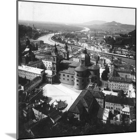 View of Salzburg from the Hohensalzburg Fortress, Salzburg, Austria, C1900-Wurthle & Sons-Mounted Photographic Print