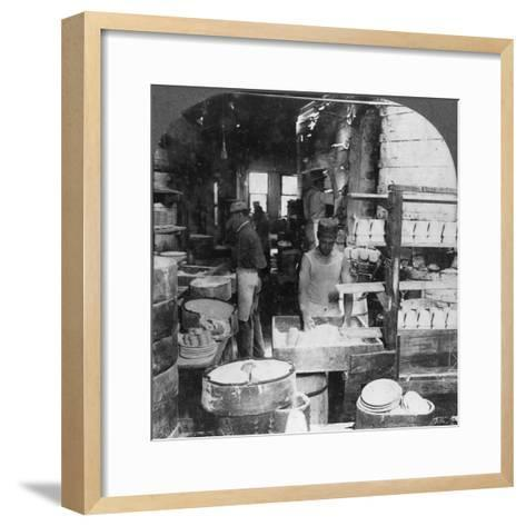 Firing Tableware in the Noted Pottery Centre, Trenton, New Jersey, USA, Early 20th Century--Framed Art Print