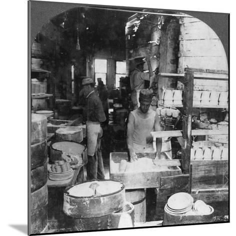Firing Tableware in the Noted Pottery Centre, Trenton, New Jersey, USA, Early 20th Century--Mounted Photographic Print