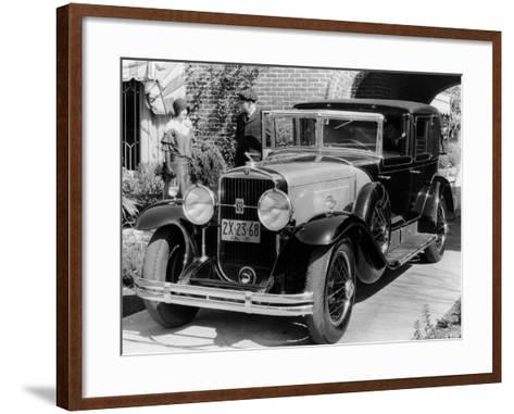 1930 Cadillac V8 Formal Town Car, (C193)--Framed Art Print