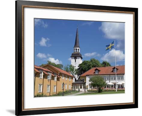 Gripsholm Vardshus and Hotel, Swedens Oldest Inn, Mariefred, Sodermanland, Sweden-Peter Thompson-Framed Art Print