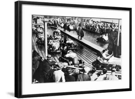 Dodgem Car Track--Framed Art Print
