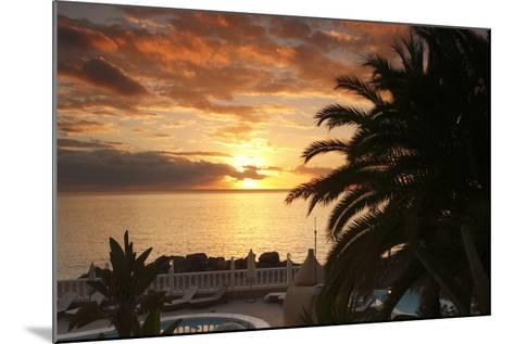 Sunset, Arguineguin, Gran Canaria, Canary Islands, Spain-Peter Thompson-Mounted Photographic Print