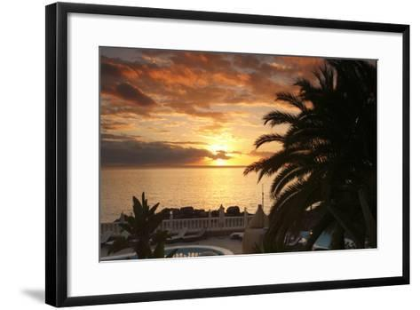 Sunset, Arguineguin, Gran Canaria, Canary Islands, Spain-Peter Thompson-Framed Art Print