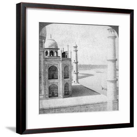 Looking North-West from the Taj Mahal Up the Jumna River to Agra, India, 1903-Underwood & Underwood-Framed Art Print