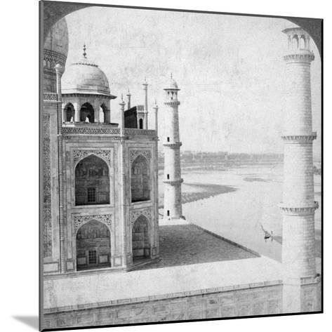 Looking North-West from the Taj Mahal Up the Jumna River to Agra, India, 1903-Underwood & Underwood-Mounted Photographic Print