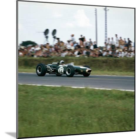 Jack Brabham Racing a Brabham-Repco Bt19, French Grand Prix, Reims, France, 1966--Mounted Photographic Print