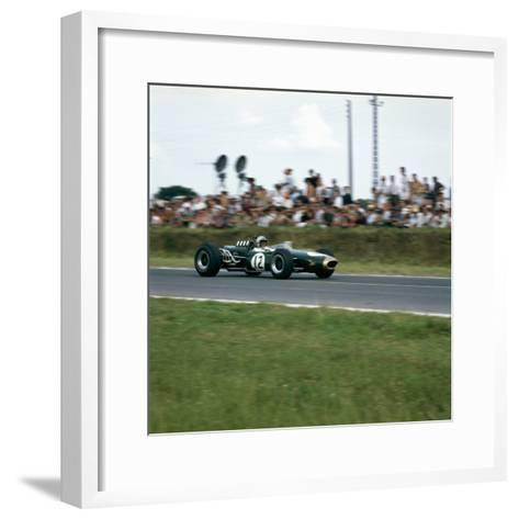 Jack Brabham Racing a Brabham-Repco Bt19, French Grand Prix, Reims, France, 1966--Framed Art Print