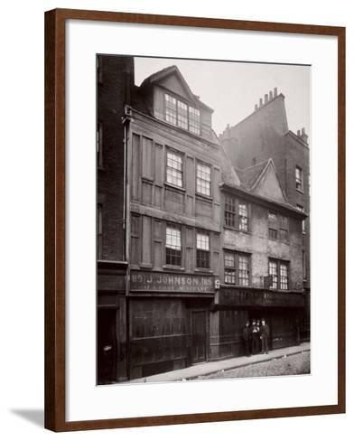 View of Houses in Drury Lane, Westminster, London, 1876--Framed Art Print