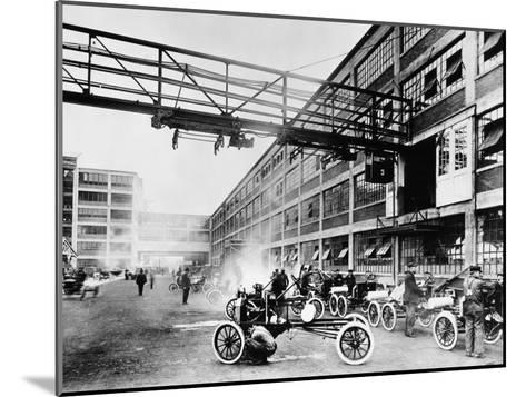 The Exterior of the Model T Factory, 1914--Mounted Photographic Print