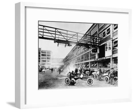 The Exterior of the Model T Factory, 1914--Framed Art Print