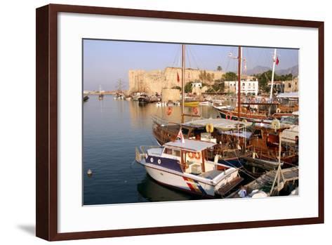 Harbour and Castle, Kyrenia (Girne), North Cyprus-Peter Thompson-Framed Art Print