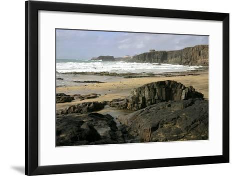 Coastline Near El Cotillo, Fuerteventura, Canary Islands-Peter Thompson-Framed Art Print