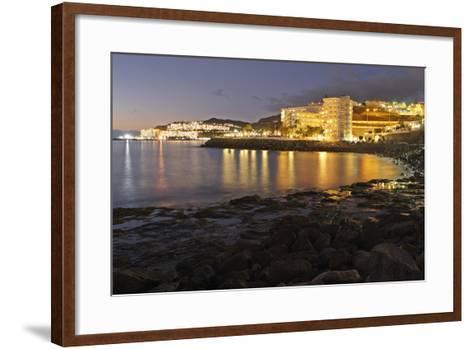 Looking Towards Patalavaca from Arguineguin, Gran Canaria, Canary Islands, Spain-Peter Thompson-Framed Art Print