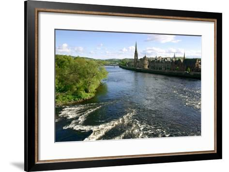 River Tay and Perth, Scotland-Peter Thompson-Framed Art Print