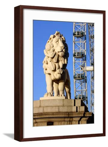 South Bank Lion, London-Peter Thompson-Framed Art Print
