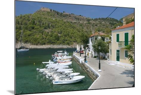 Boats at the Quayside, Assos, Kefalonia, Greece-Peter Thompson-Mounted Photographic Print