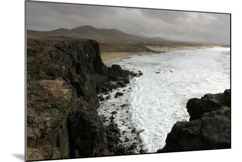 Coastline Near El Cotillo, Fuerteventura, Canary Islands-Peter Thompson-Mounted Photographic Print