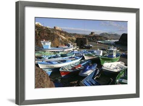Fishing Boats, El Cotillo, Fuerteventura, Canary Islands-Peter Thompson-Framed Art Print