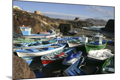 Fishing Boats, El Cotillo, Fuerteventura, Canary Islands-Peter Thompson-Mounted Photographic Print