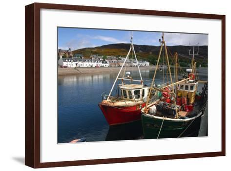Fishing Boats, Ullapool Harbour, Highland, Scotland-Peter Thompson-Framed Art Print