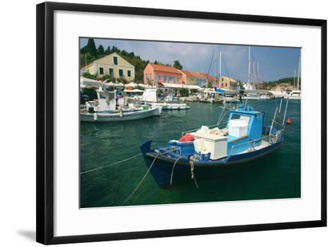 Fiskardo Harbour, Kefalonia, Greece-Peter Thompson-Framed Art Print