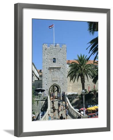 Land Gate, Korcula, Croatia-Peter Thompson-Framed Art Print