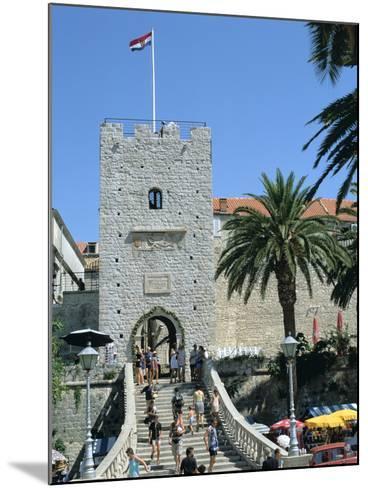 Land Gate, Korcula, Croatia-Peter Thompson-Mounted Photographic Print