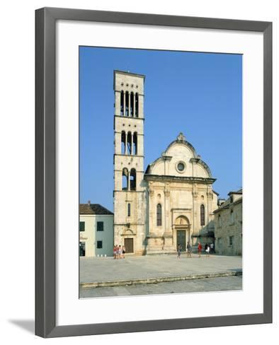 Hvar Cathedral, Croatia-Peter Thompson-Framed Art Print