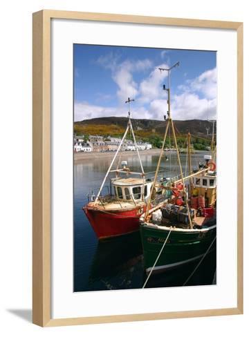 Fishing Boats, Ullapool Harbour, Highland, Scotland-Peter Thompson-Framed Art Print