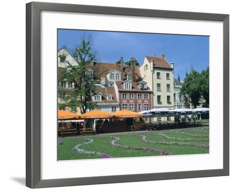Houses on Meistaru Iela, Riga, Latvia-Peter Thompson-Framed Art Print