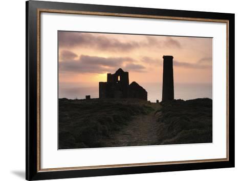Sunset, Wheal Coates Tin Mine, St Agnes, Cornwall, 2009-Peter Thompson-Framed Art Print