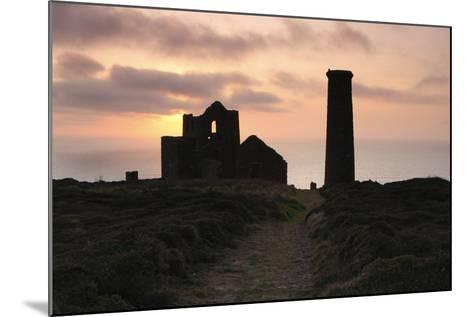 Sunset, Wheal Coates Tin Mine, St Agnes, Cornwall, 2009-Peter Thompson-Mounted Photographic Print