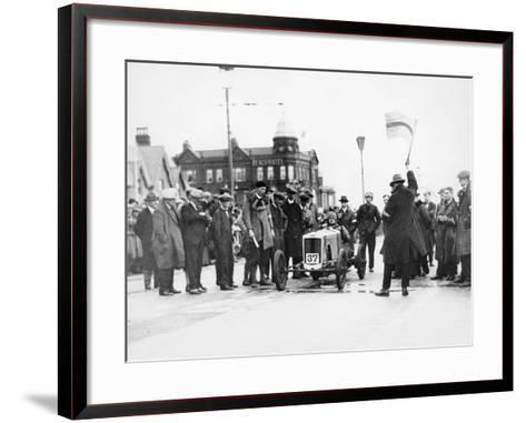 Archie Frazer-Nash Waiting at the Start of a Motor Racing Event--Framed Art Print