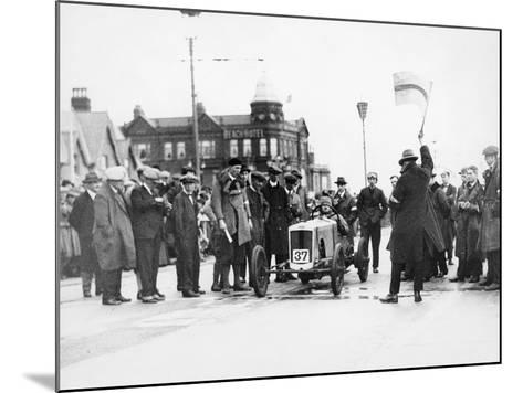 Archie Frazer-Nash Waiting at the Start of a Motor Racing Event--Mounted Photographic Print