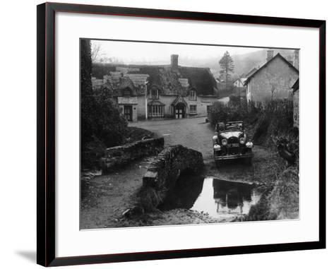 Kitty Brunell at the Wheel of a Ford Model A, Winsford, Somerset, 1930--Framed Art Print