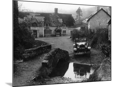 Kitty Brunell at the Wheel of a Ford Model A, Winsford, Somerset, 1930--Mounted Photographic Print