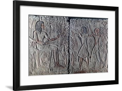 Ancient Egyptian Relief, C1300 Bc--Framed Art Print