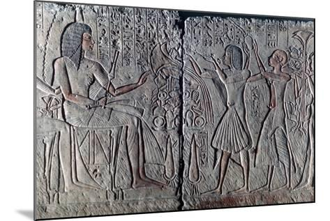 Ancient Egyptian Relief, C1300 Bc--Mounted Photographic Print