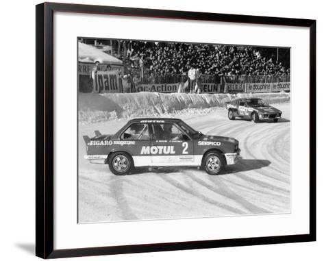 A BMW 325IX During the Chamonix Ice Race, France, 1989--Framed Art Print