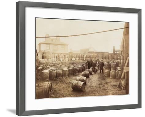 Ebano Bitumen Stored at Elizabeth Wharf, Limehouse, London, C1900--Framed Art Print
