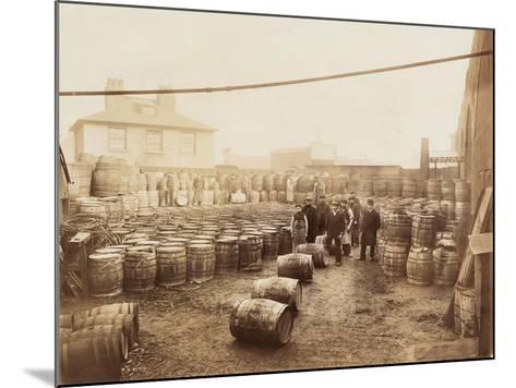 Ebano Bitumen Stored at Elizabeth Wharf, Limehouse, London, C1900--Mounted Photographic Print