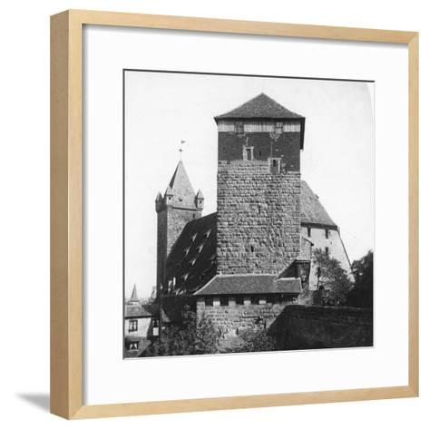 The Quintagonal Tower (Funfeckiger Thur), Kaiserstallung, Nuremberg, Germany, C1900s-Wurthle & Sons-Framed Art Print