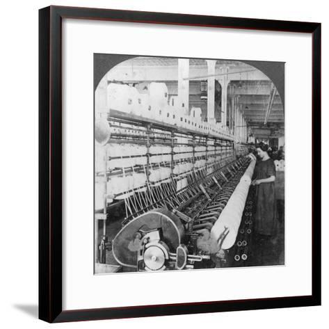 Doubling Frame in a Large Woollen Mill, Lawrence, Massachusetts, USA, Early 20th Century--Framed Art Print