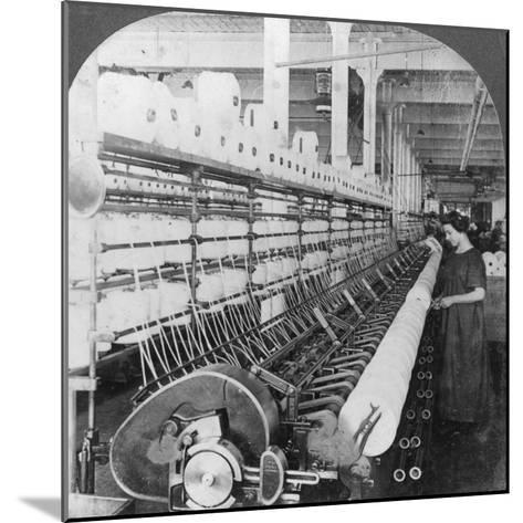 Doubling Frame in a Large Woollen Mill, Lawrence, Massachusetts, USA, Early 20th Century--Mounted Photographic Print