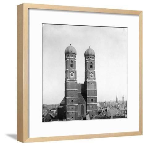 The Frauenkirche, Munich, Germany, C1900-Wurthle & Sons-Framed Art Print