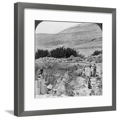 Steps Leading to Jacob's Well, Looking Northwest, Palestine (Israel), 1905-Underwood & Underwood-Framed Art Print