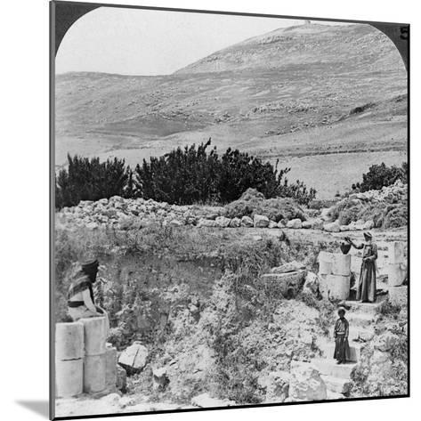 Steps Leading to Jacob's Well, Looking Northwest, Palestine (Israel), 1905-Underwood & Underwood-Mounted Photographic Print