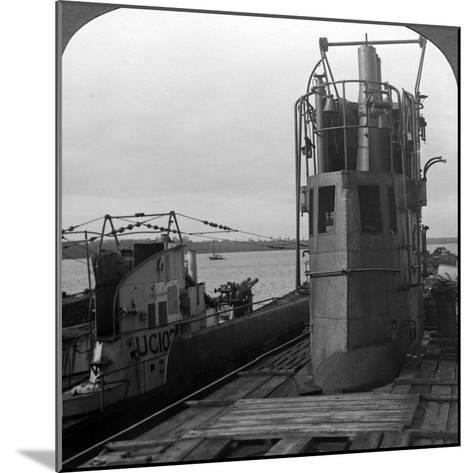 Conning Tower of a Mine-Laying German U-Boat, World War I, 1914-1918--Mounted Photographic Print